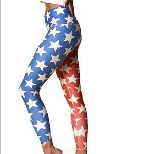 Teeki American Flag Leggings SZ S